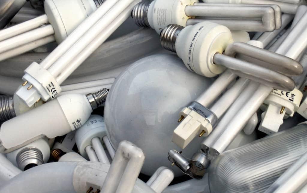 Использованные ртутьсодержащие лампы