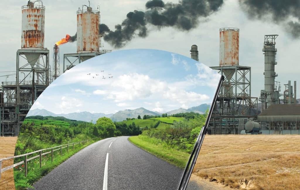 Заводы и дым из их труб