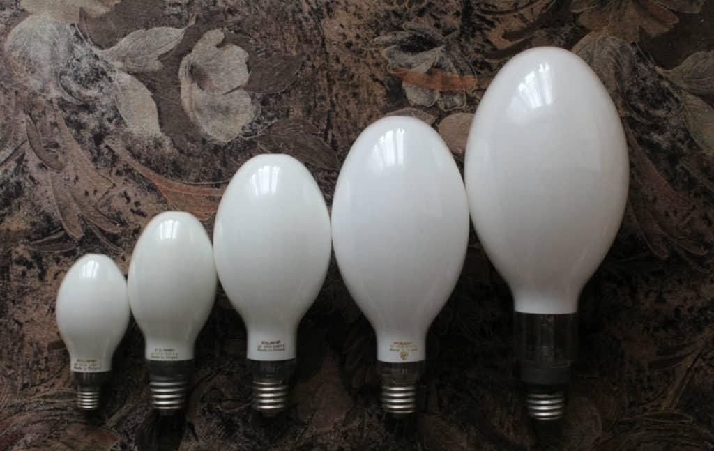 ДРЛ лампы разной формы